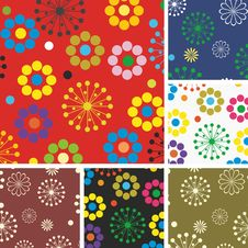Free Flower Background Design In Vector Stock Images - 19771394