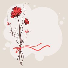 Free Red Flower Background Stock Image - 19771611
