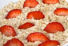Free Oatmeal With Strawberries Royalty Free Stock Photo - 19772035