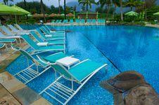 Free Blue Tiled Pool At Kauai Resort Royalty Free Stock Photo - 19772965