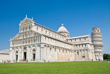 Free Baptistery, And Leaning Tower Of Pisa Royalty Free Stock Images - 19773109