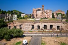Free Temple Of Venus And Rome Royalty Free Stock Photography - 19773137