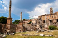 Free The Roman Forum, Italy Royalty Free Stock Images - 19773139