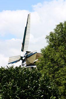 Hollands Beautiful Windmill Stock Image