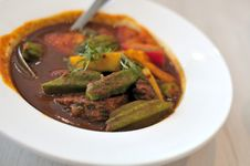 Thai Style Spicy Curry Stock Photo