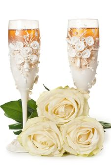 Free Two Glasses Of Champagne Royalty Free Stock Photography - 19773887