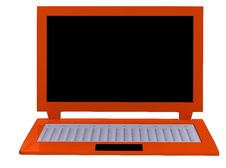 Llaptop On White Baground Without Office Equipment Royalty Free Stock Photo
