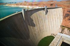 Glen Canyon Dam Near Page At The Colorado River Royalty Free Stock Photos