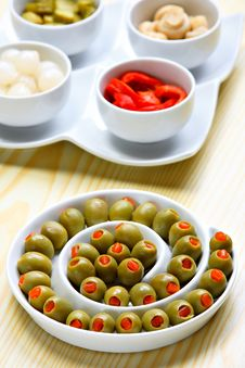 Free Stuffed Green Olives Royalty Free Stock Images - 19775269