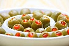 Free Stuffed Green Olives Stock Photo - 19775420