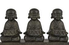 Free Three Buddhas Royalty Free Stock Photos - 19776438