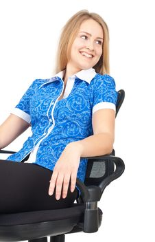 Free Business Woman Sitting In Chair Royalty Free Stock Images - 19777329