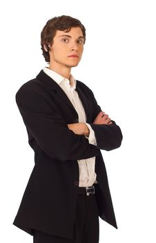 Confident Young Business Man Royalty Free Stock Images