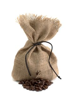Free Bag With Coffee Bean Stock Image - 19777581