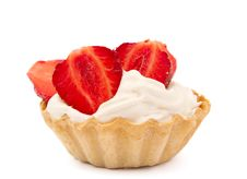 Free Strawberries And Cream In A Basket Royalty Free Stock Images - 19777869