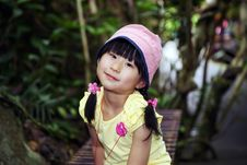 Free Chinese Girl In The Rainforest Stock Image - 19778441