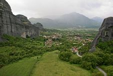 Free The Metéora, The Plain Of Thessaly Royalty Free Stock Photos - 19778788