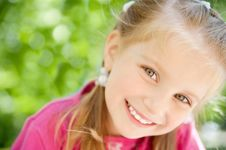 Little Girl Smiling Stock Images