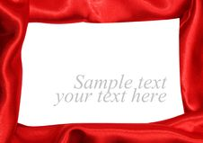 Free Red Satin Fabric Stock Photos - 19779013