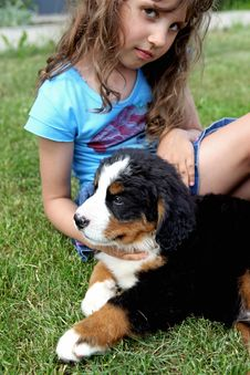 Free Girl And Dog Royalty Free Stock Images - 19779269