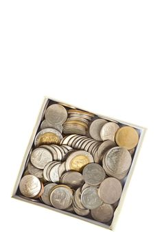 Free Coins Thai Baht In The Box Stock Photos - 19779343