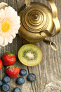 Free Fruites Mix With Old Teapot Royalty Free Stock Photo - 19781115