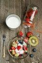 Free Fruites Mix With Cream Stock Image - 19781141
