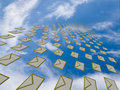 Free Big Array Of Letters Flying Away Into The Sky Royalty Free Stock Photo - 19783055