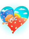 Free Child In Bed Royalty Free Stock Photo - 19783545