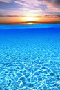 Free Sunset Over Swimming Pool Royalty Free Stock Photography - 19785377