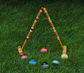 Free Croquet Balls And Mallets Royalty Free Stock Photography - 19785417