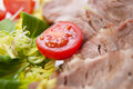 Free Sliced Meat With Fresh Vegetables Stock Image - 19789871