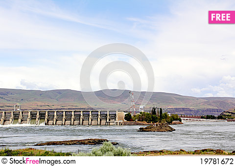 Free The Dalles Dam Stock Photography - 19781672