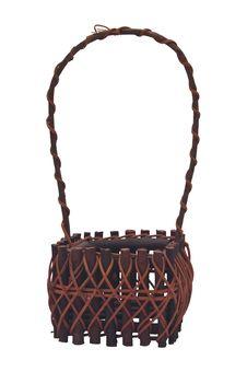 Free Empty Handmade Wicker Basket Royalty Free Stock Photos - 19780168