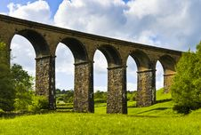 Free Lowgill Viaduct And Meadow Stock Images - 19780324