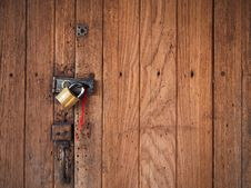 Free Old Wood Door Close And Lock Stock Image - 19780911