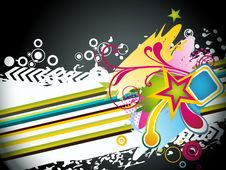 Abstract Modern Vector Illustration,floral Element Royalty Free Stock Image