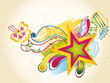 Abstract Modern Vector Illustration,floral Element Stock Images