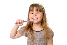 Free Girl With Tooth-brush. Stock Photos - 19781523