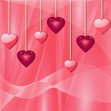Free Pink Valentine Hearts Stock Photo - 19781550