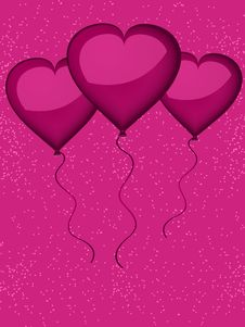 Free Valentine Heart Shaped Balloons Stock Photo - 19781600