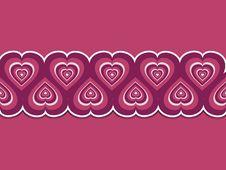 Free Retro Valentine Hearts Royalty Free Stock Photography - 19781607