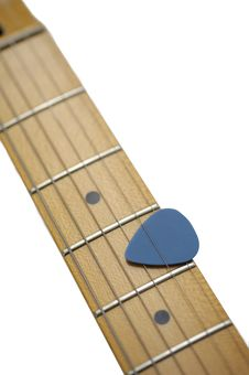 Blue Guitar Pick Stock Photos