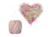Free Multicolored Heart Of Yarns Royalty Free Stock Image - 19783446