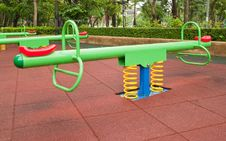 Free Colorful Playground In The Park Royalty Free Stock Photography - 19784097