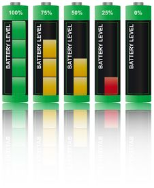 Free Set Battery Level Stock Photography - 19784622
