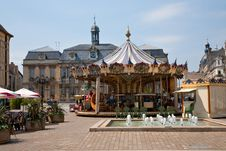 Free Traditional Merry-go-round On Town Square Royalty Free Stock Photos - 19784738