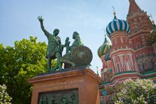 Free Monument To Minin And Pozharsky In Moscow Stock Image - 19784781