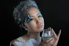 Free Portrait Of Woman With Makeup Stock Photo - 19784880