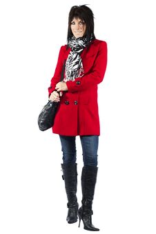 Free Woman In Red Coat Stock Photos - 19785583